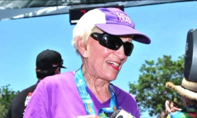 At 91, Harriette Thompson became the oldest woman to complete the Rock 'n' Roll marathon.