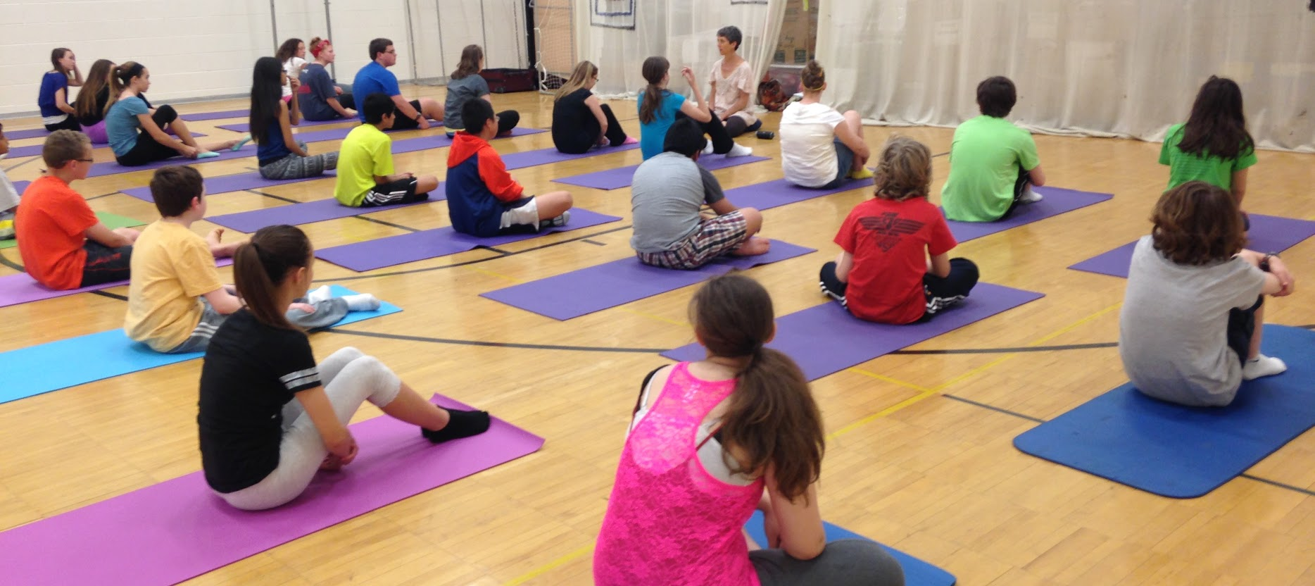 Modular Classroom Yoga : Belightful yoga services brings mindfulness to classrooms