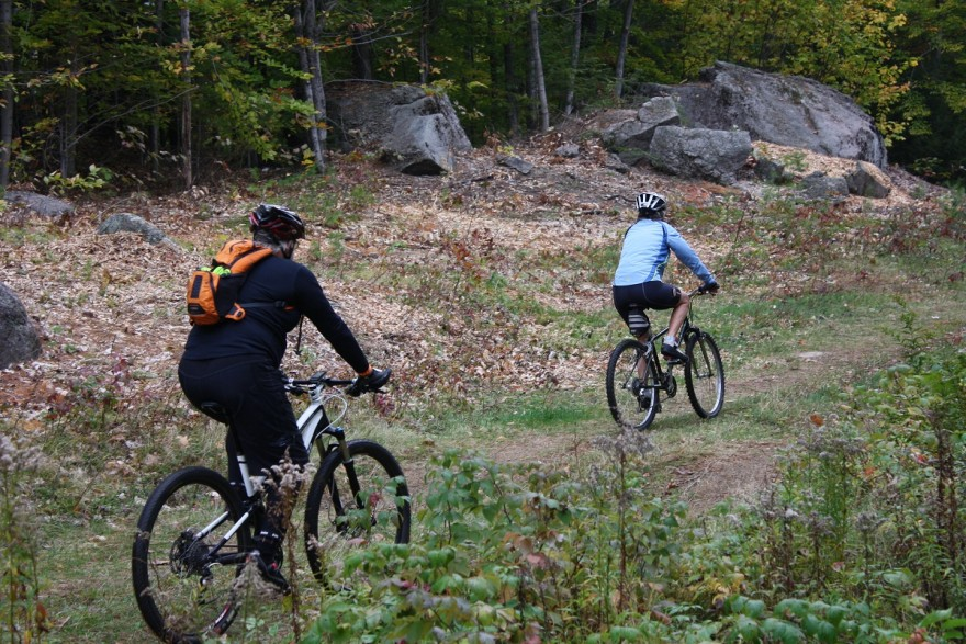 A study is underway to see how e-bikes impact trails used by traditional mountain bikes. Image by Marty Basch.