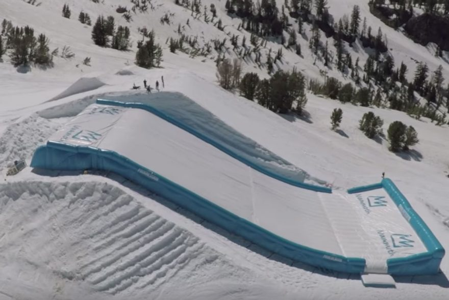 Progression AirBags slope shaped airbags protect boarders during 2018 Winter Olympic training | ActionHub