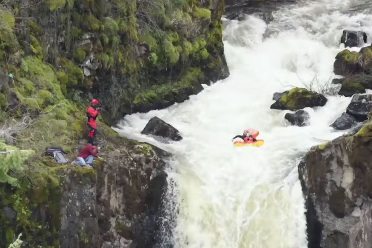 Red Bull Kayaker Uses Lobster To Go Over Waterfall | ActionHub