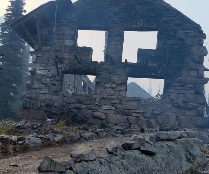 Fire Burns Down Historic Landmark On Glacier National Park   ActionHub