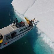 Daredevil Slides Down Iceberg On Inflatable Pizza | ActionHub