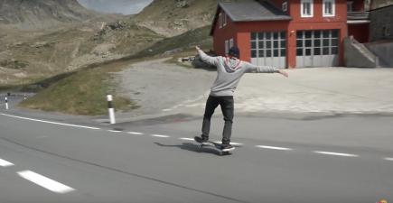 Simon Stricker Sets Longest Manual On A Skateboard Record | ActionHub