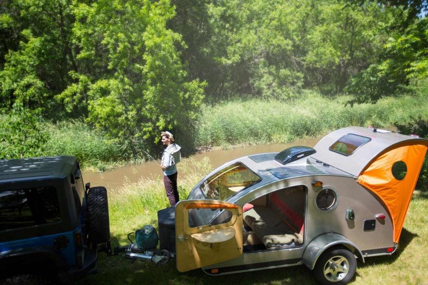 Going off the grid just got easier with solar-powered tear drop trailers | ActionHub