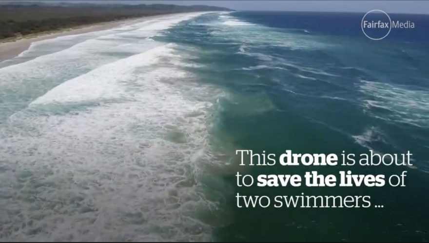 First ever drone rescue attempt a success | ActionHub