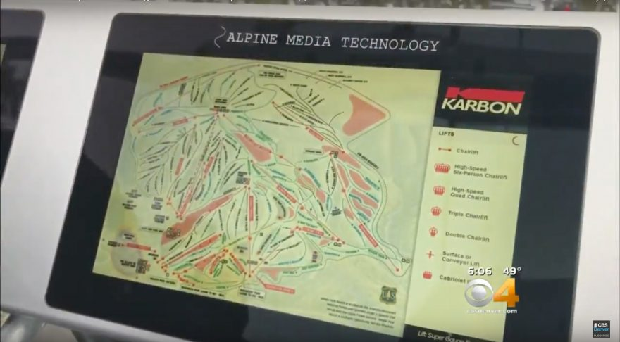 Digital screens installed on chairlifts at Winter Park Resort | ActionHub
