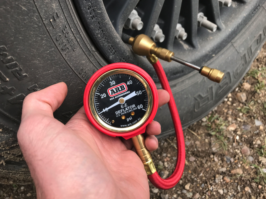 airing down tires 6