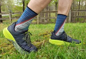 smartwoodl PhD Run Ultra Light Print Crew Socks