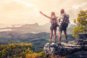 backpacking couple