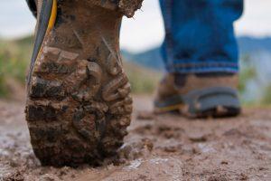 footprints hiking boots