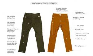 ecotrek pants specs