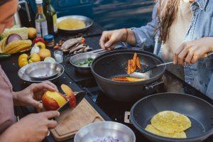 snow-peak-rivian-outdoor-cooking
